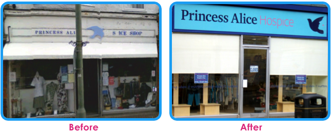 Princess Alice Hospice Shop Before And After